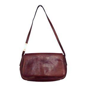Small Leather Fossil Baguette Shoulder Bag Handbag